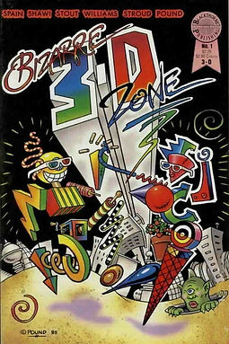 Bizarre 3-D Zone #1 VG 1986 by Ray Zone.