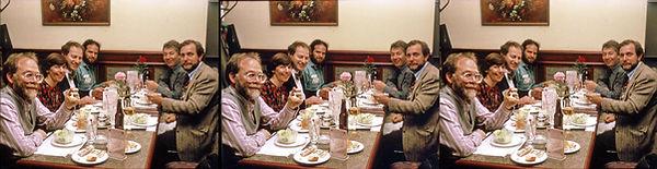 1992_11_04 3DMT dinner Starkman, Pinsky,
