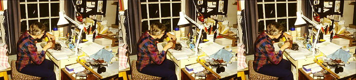 1985 Pat Whitehouse working in her workr