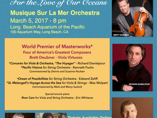 "World Premiere of ""The Voyager"", Concerto for Viola and Orchestra with violist Brett Deubn"