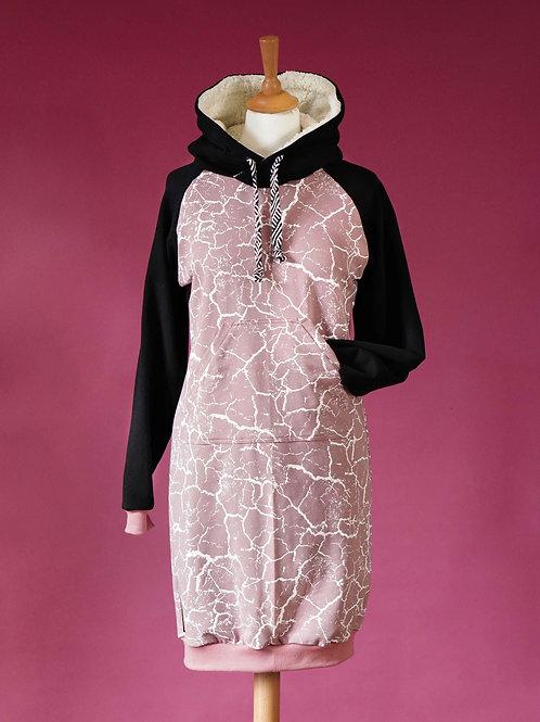 Robe sweat Paulette / Marbré vieux rose - Taille S (36-38)