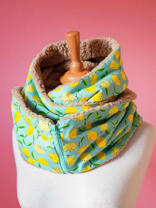 Echarpe capuche zippée - Lemons