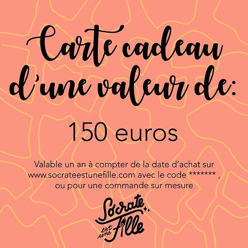 Carte cadeau - 150 euros