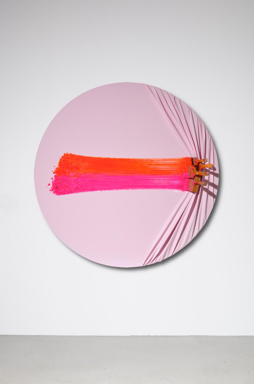 Quadruple brosses arrêtées pink & orange