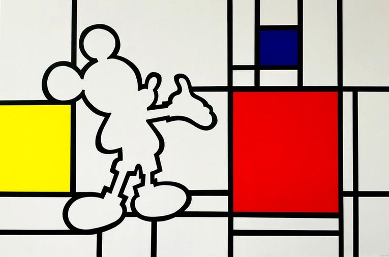 """Mickey & hommage à Mondrian"""