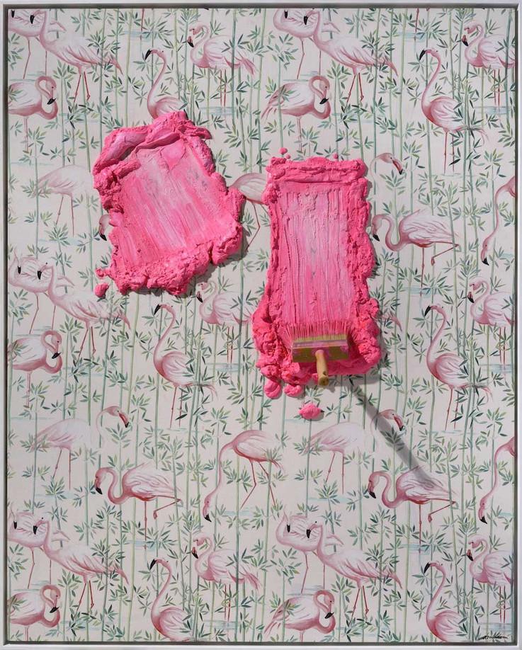 """Brosse arrêtée Pink Flamingos"""