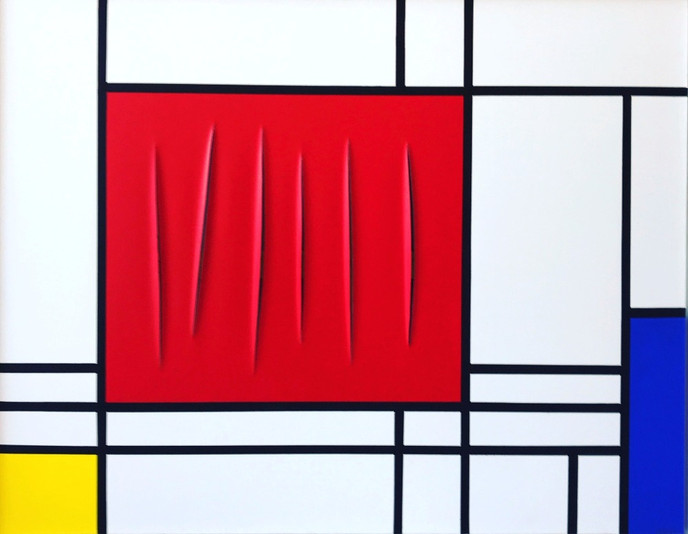 """Collaboration Fontana x Mondrian (hommage)"""