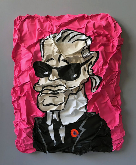 Inflatable Karl Lagerfeld