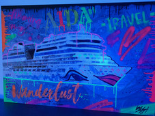 colorful cruise ship