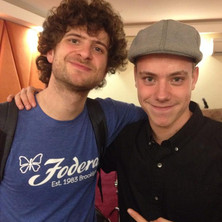 Carles with Michael League