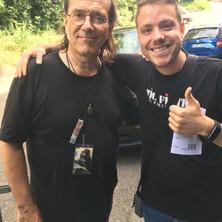 Carles with Vinnie Colaiuta