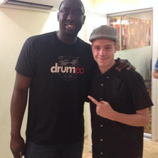 Carles with Larnell Lewis