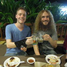 Carles with Guthrie Govan