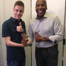 Carles with Nathan East