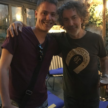 Carles with Simon Phillips