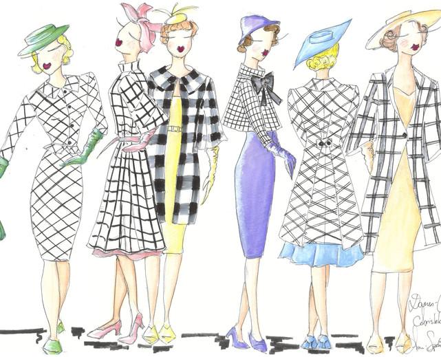 Design Damen Chor Hofgesellschaft