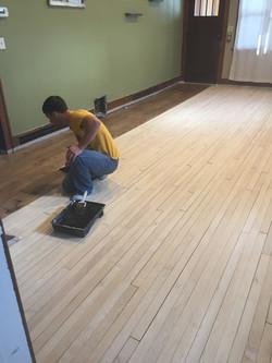 Applying Finish to Floor