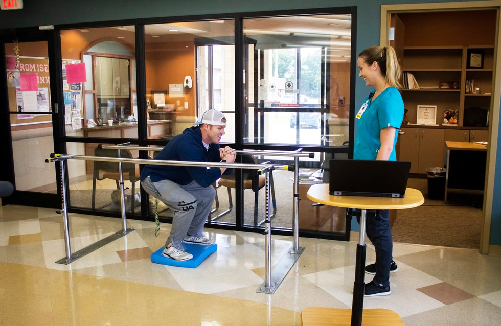 Image of physical therapy patient with therapist