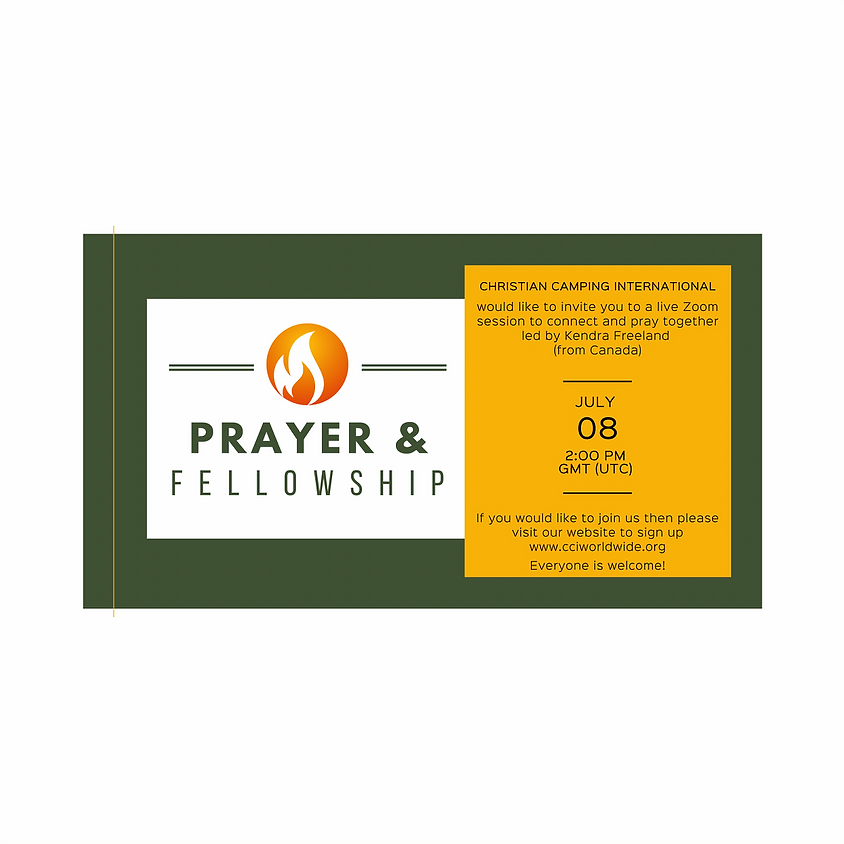 Prayer & Fellowship THURSDAY 08 July 2021 led by Kendra Freeland