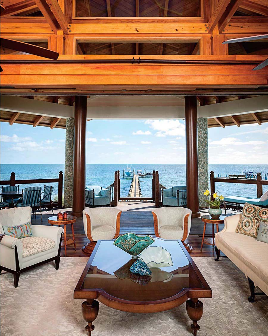 brown living dock