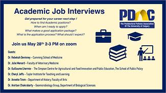 Academic Job Interviews Poster May 2021.