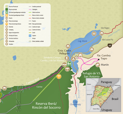Mapa Portal Laguna Iberá