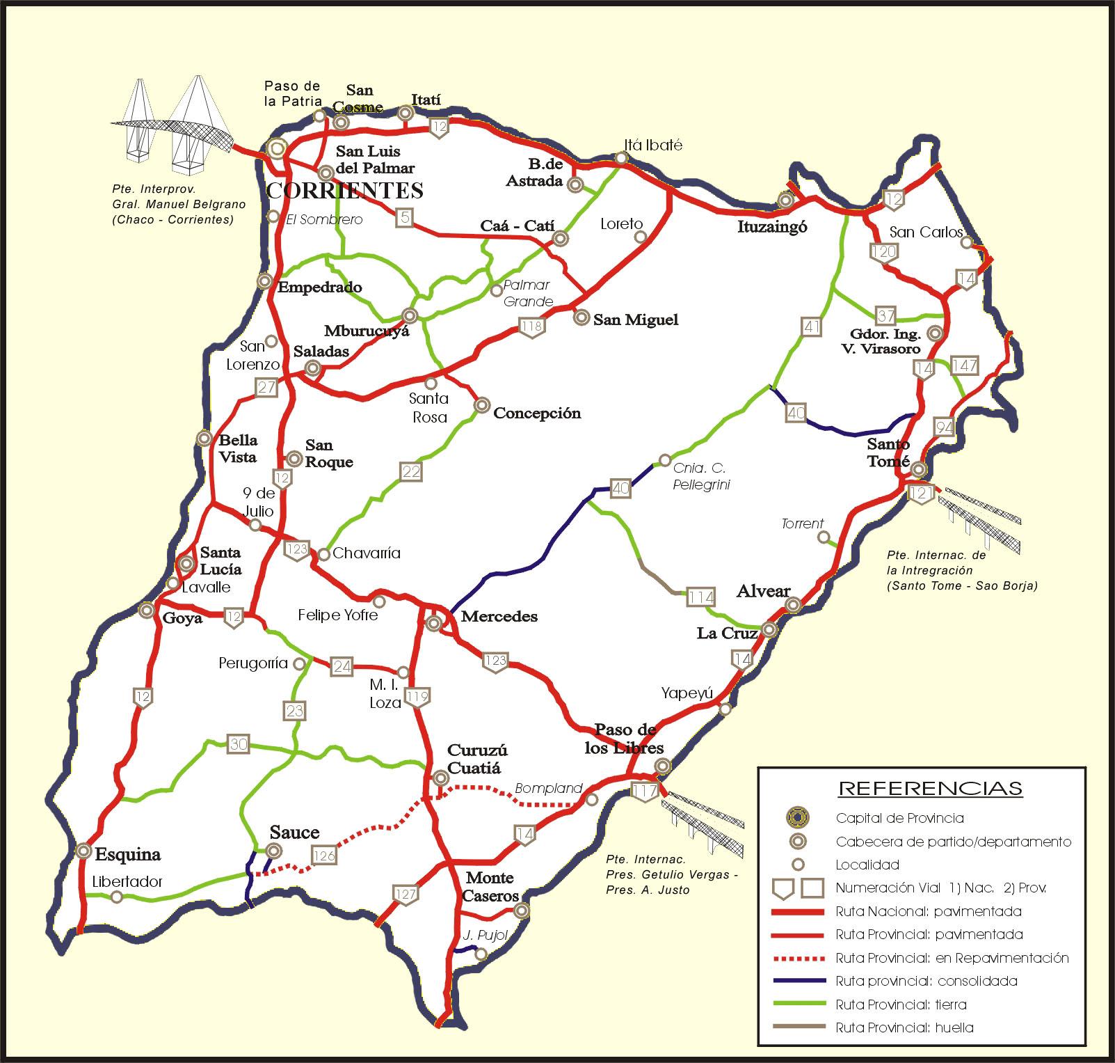 Rutas en Provincia de Corrientes