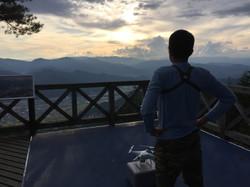 安峰山 展望台 夕日