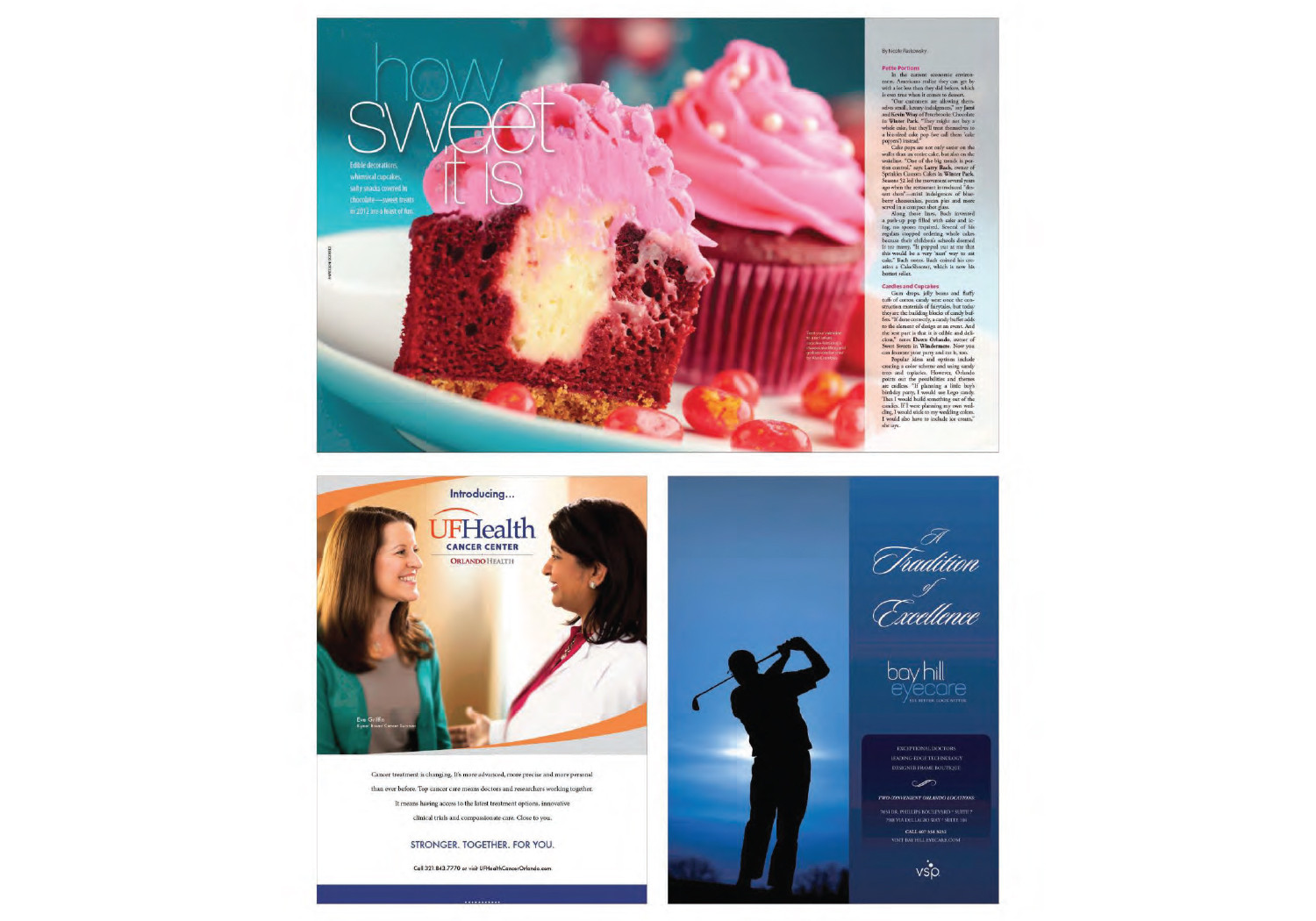 Magazine Design (Ads, Covers, Features, Articles)