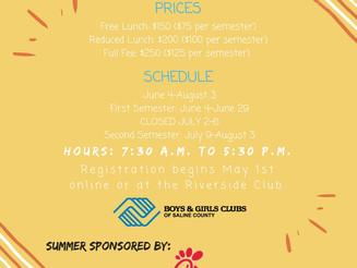 2018 Riverside Club Summer Info