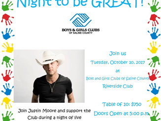 5th Annual Justin Moore's Night to be BIG