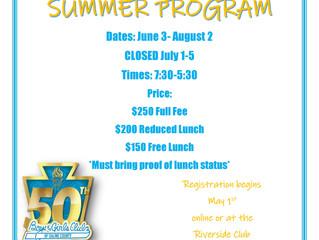 Riverside Club 2019 Summer Information