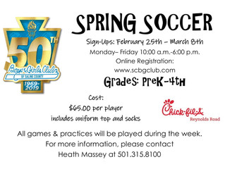 2019 Riverside Club Spring Soccer Info