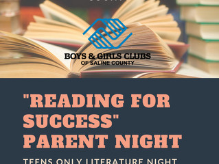 2018 Reading for Success Parent Night