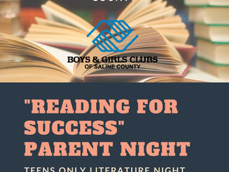 2018 Reading for Success Parent Night