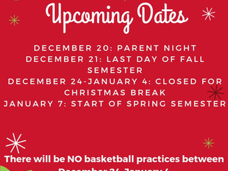 Important Holiday Dates for Riverside Club