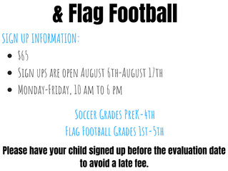 2018 Riverside Club Fall Soccer & Flag Football
