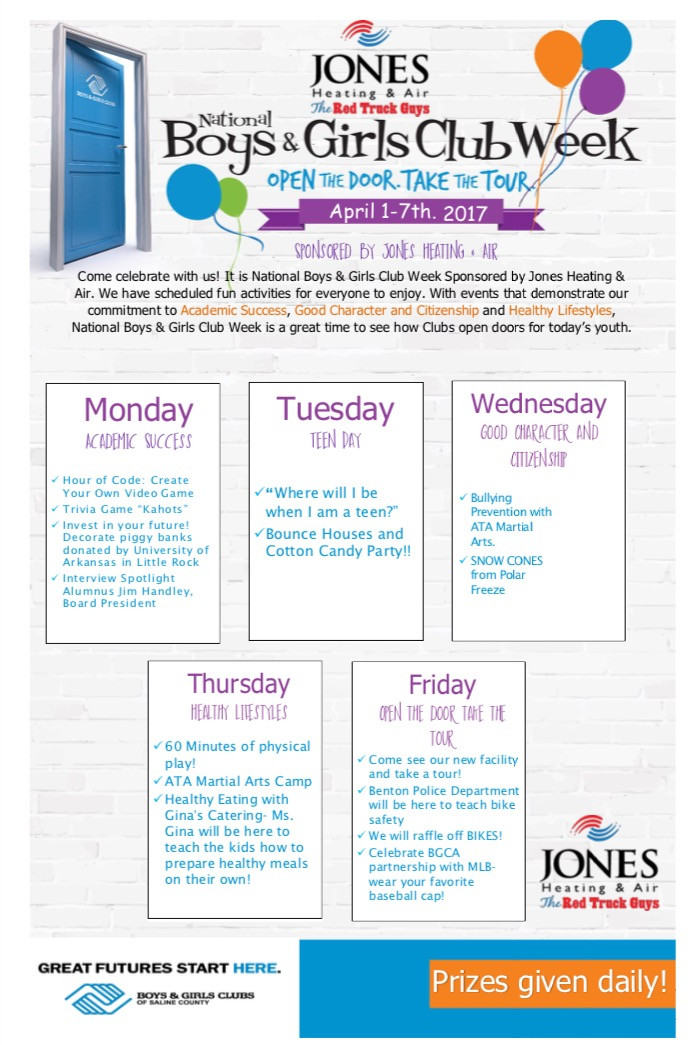 BGC Week Event Schedule
