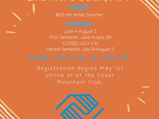 2018 Cedar Mountain Club Summer Information