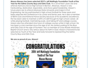 2019 Jeff Mattingly Foundation Youth of The Year