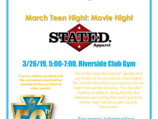 Teen Night Madness Movie Night