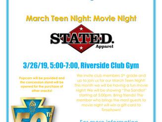 Teen Night Madness Movie Night