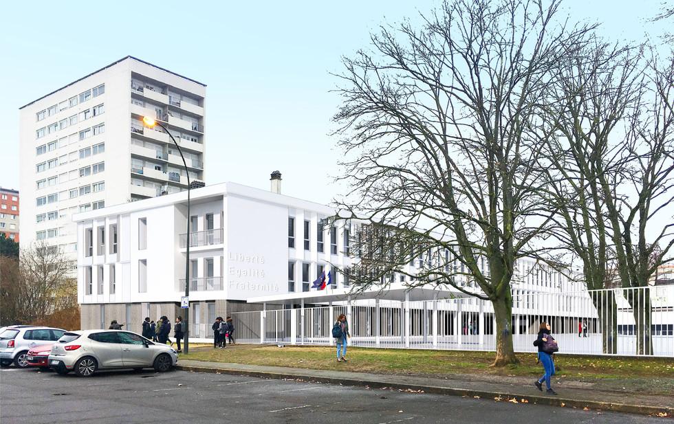 Lauréat - Réhabilitation-restructuration du Collège Blaise Pascal à Massy