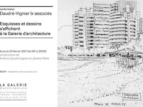 Exposition dessins d'architectes signés Antoine Daudré-Vignier à La Galerie d'architecture -