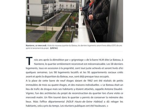 Visite de presse à Nanterre - 254 logements
