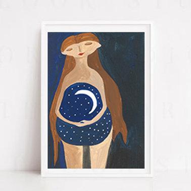 Ay ve Yıldızlar A3 Poster