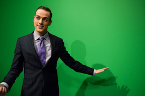 Eric at Green Screen