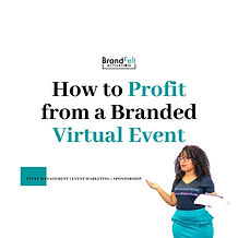 Profit from a virtual event