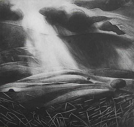 Shadowed air, etching, 27 x 29cm