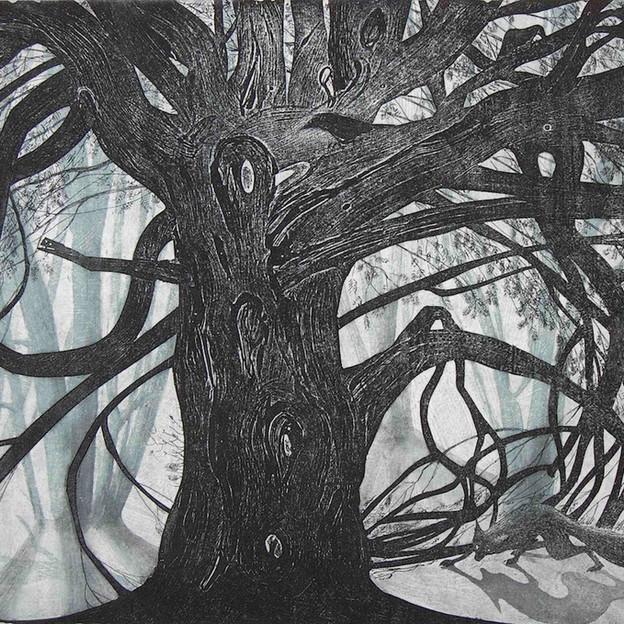Under the yew tree